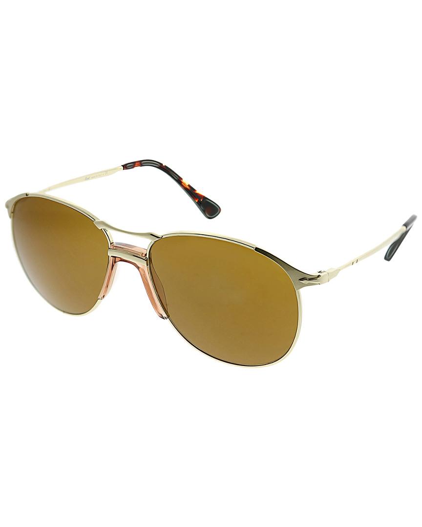 5206500a939bb Shop Persol Pilot 55Mm Sunglasses In Nocolor