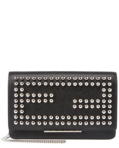 FENDI Tube Studded Leather Wallet on Chain