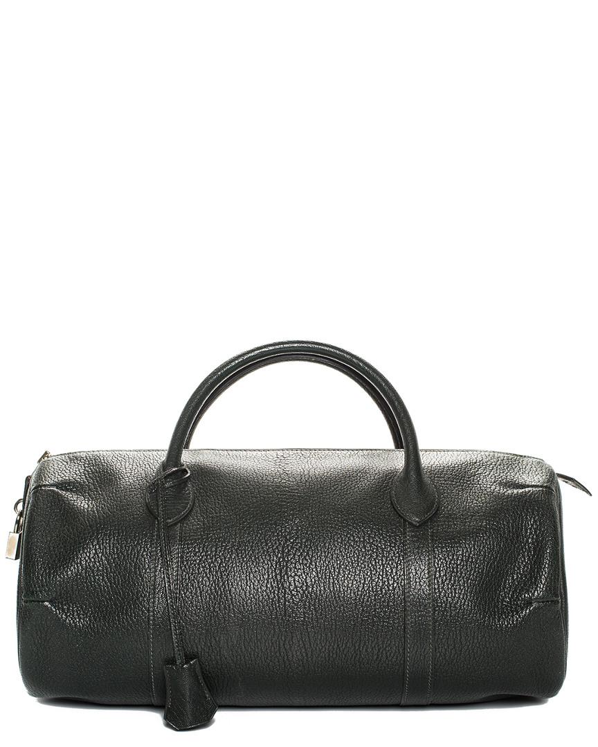 Dark Green Chevre Leather Bombay Bag, Nocolor