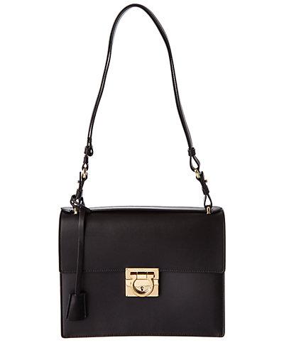Salvatore Ferragamo Marisol Leather Shoulder Bag