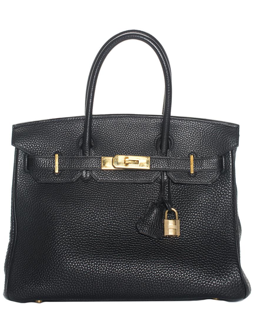 Black Togo Leather Birkin 30Cm Ghw, Nocolor