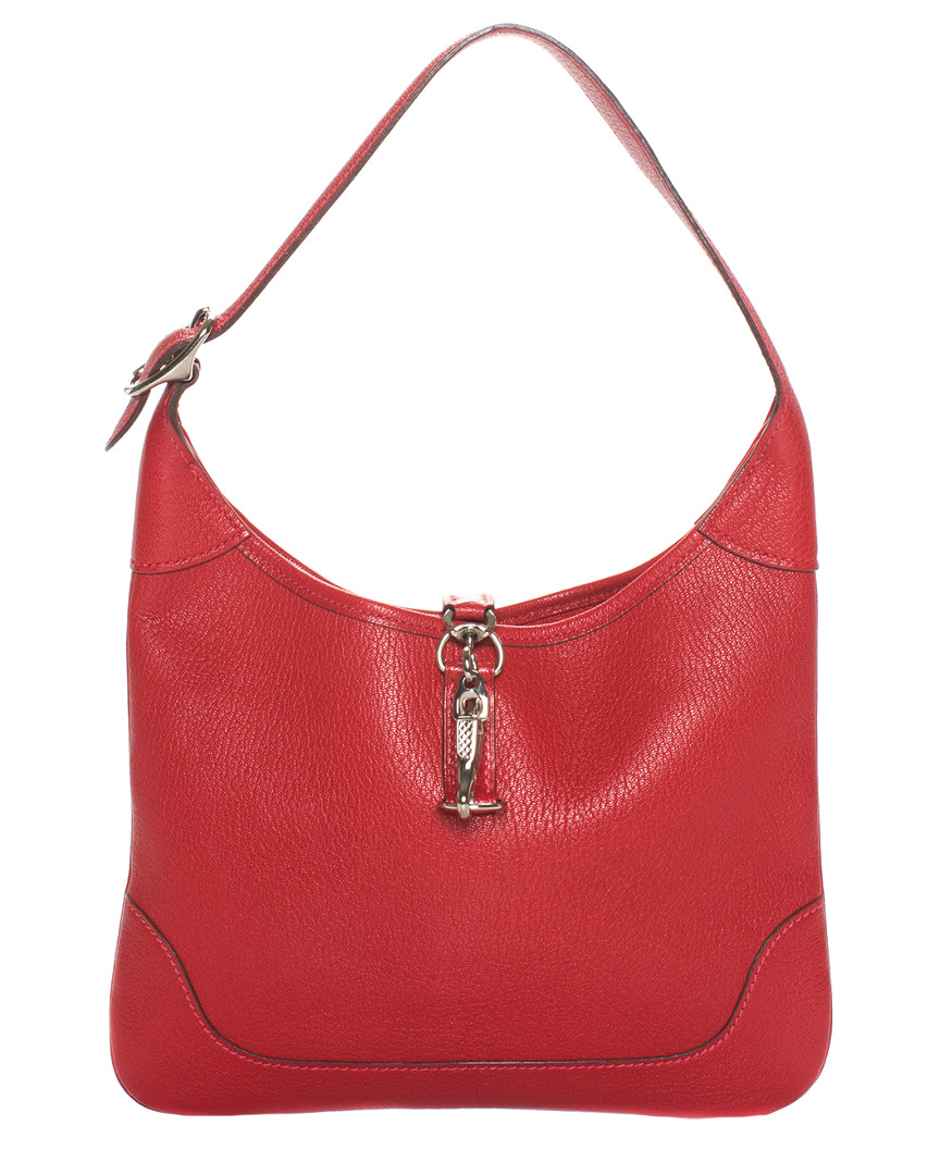 Red Clemence Leather Trim Ii 35Cm, Nocolor