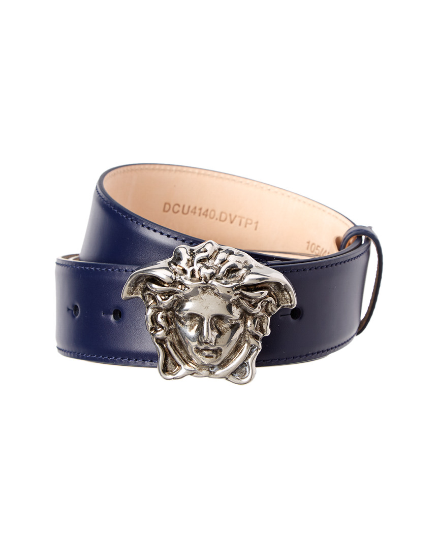 Versace PALAZZO MEDUSA BUCKLE LEATHER BELT
