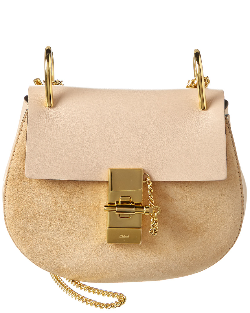 b5614b960cd Chloe Drew Mini Leather   Suede Shoulder Bag 3610927915843
