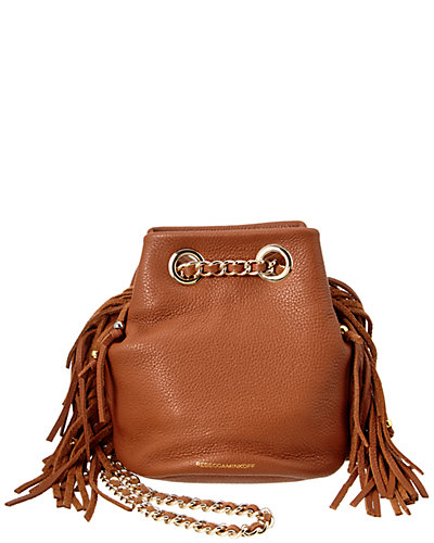 Rebecca Minkoff Fringe Bruni Leather Bucket Bag