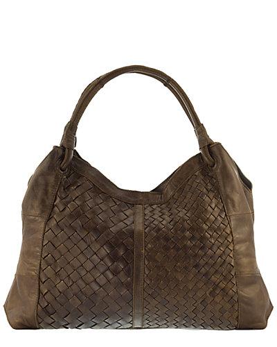 Lisa Minardi Vania Intrecciato Leather Hobo