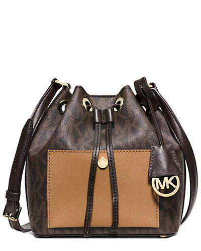 MICHAEL Michael Kors Greenwich Small Saffiano Leather Bucket Bag