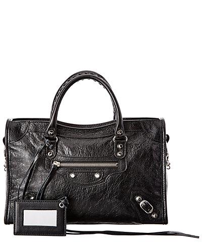 Balenciaga Classic Silver City S Small Leather Shoulder Bag