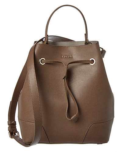 Furla Stacy Small Leather Bucket Bag
