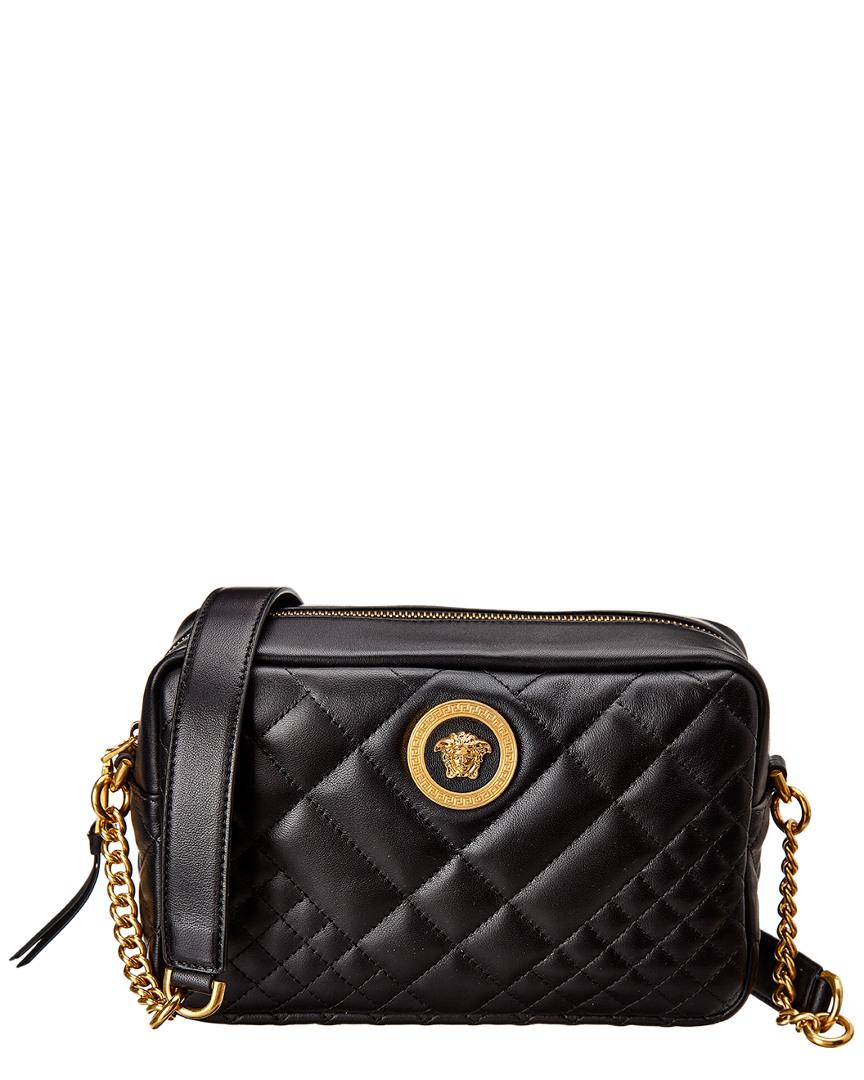 41f18700e3 Versace Medusa Medium Quilted Leather Shoulder Bag