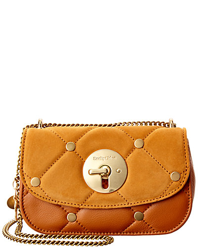 See by Chloé Lois Mini Evening Suede & Leather Crossbody