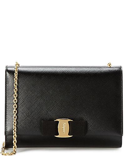 Salvatore Ferragamo Vara Mini Leather Flap Bag