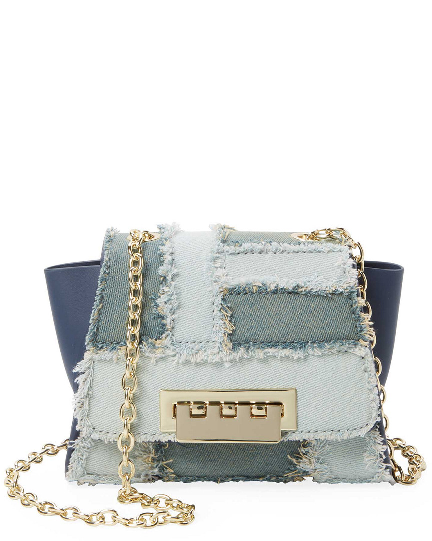 Zac Posen DENIM PATCH CROSSBODY