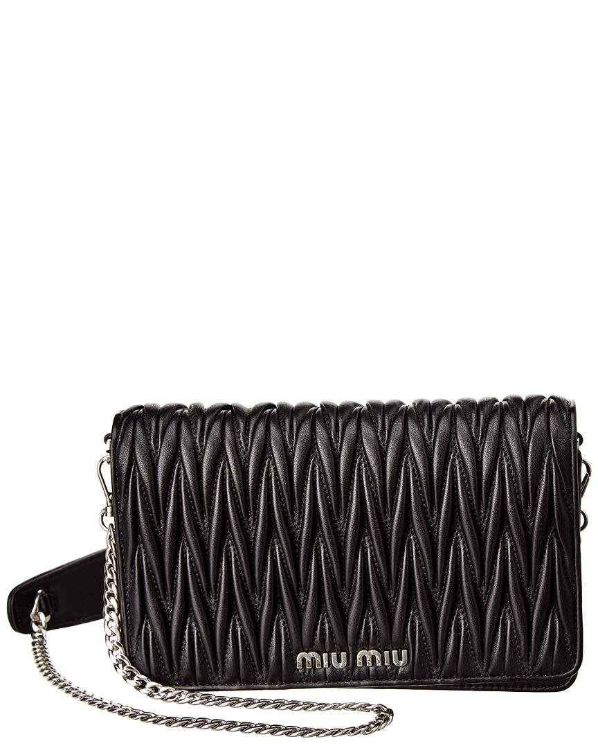 Miu Miu Delice Matelasse Leather Chain Shoulder Bag b813a83229523