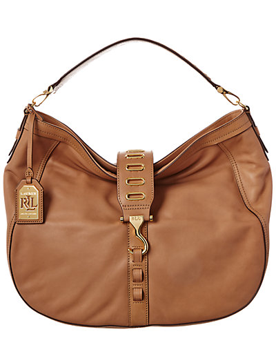 Lauren by Ralph Lauren Huttington Small Leather Hobo