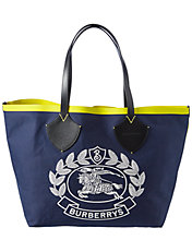 Deals on Burberry Giant Archive Crest Cotton Tote