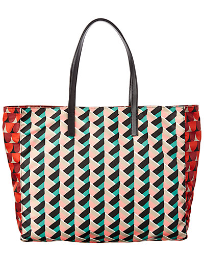 RED Valentino Mixed Print Nylon Shopping Tote