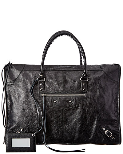 Balenciaga Classic Weekender Large Leather Tote