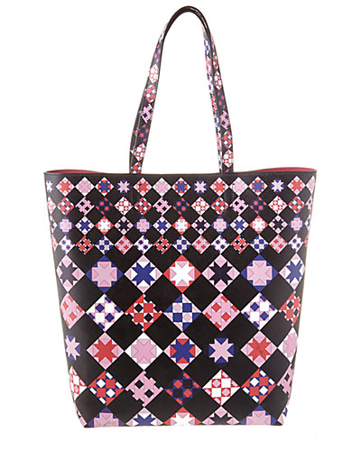 Emilio Pucci Printed Saffiano Leather North South Tote