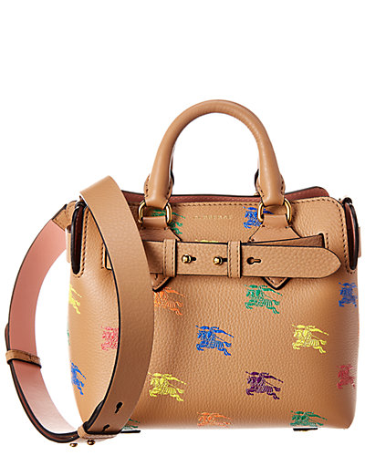 Burberry Mini Belt Bag Equestrian Knight Leather Tote by Burberry