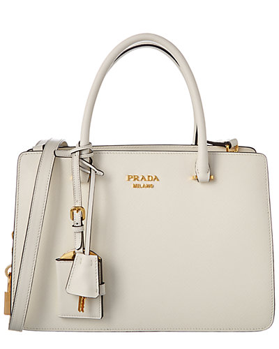 Prada Calf Leather Double Handle Lock Tote