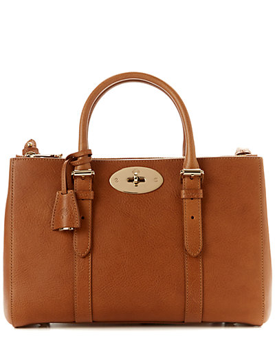 Mulberry Bayswater Small Double Zip Natural Leather Tote