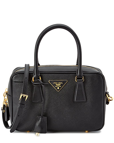Prada Lux Small Saffiano Leather Double Top Handle Bag