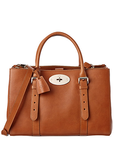 Mulberry Bayswater Double Zip Natural Leather Tote