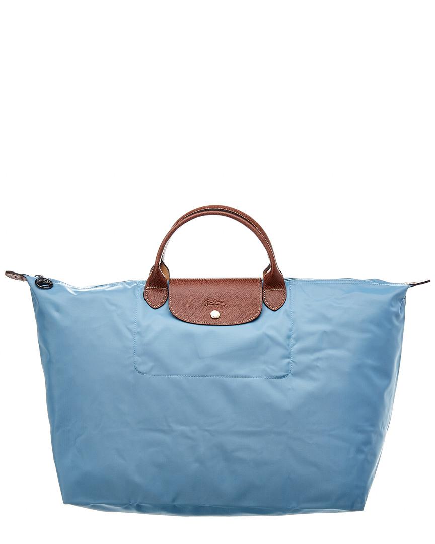 9807520d8 Longchamp Le Pliage Large Nylon Travel Tote, Blue 3597921518280 | eBay