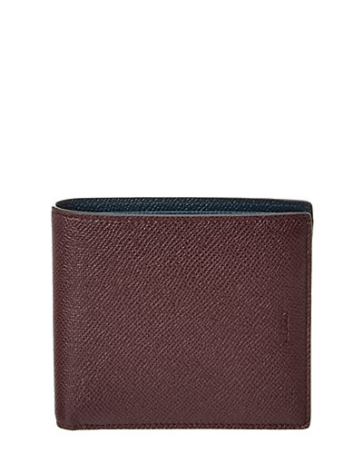 Bally Byie Bicolor Leather Bifold Coin Wallet