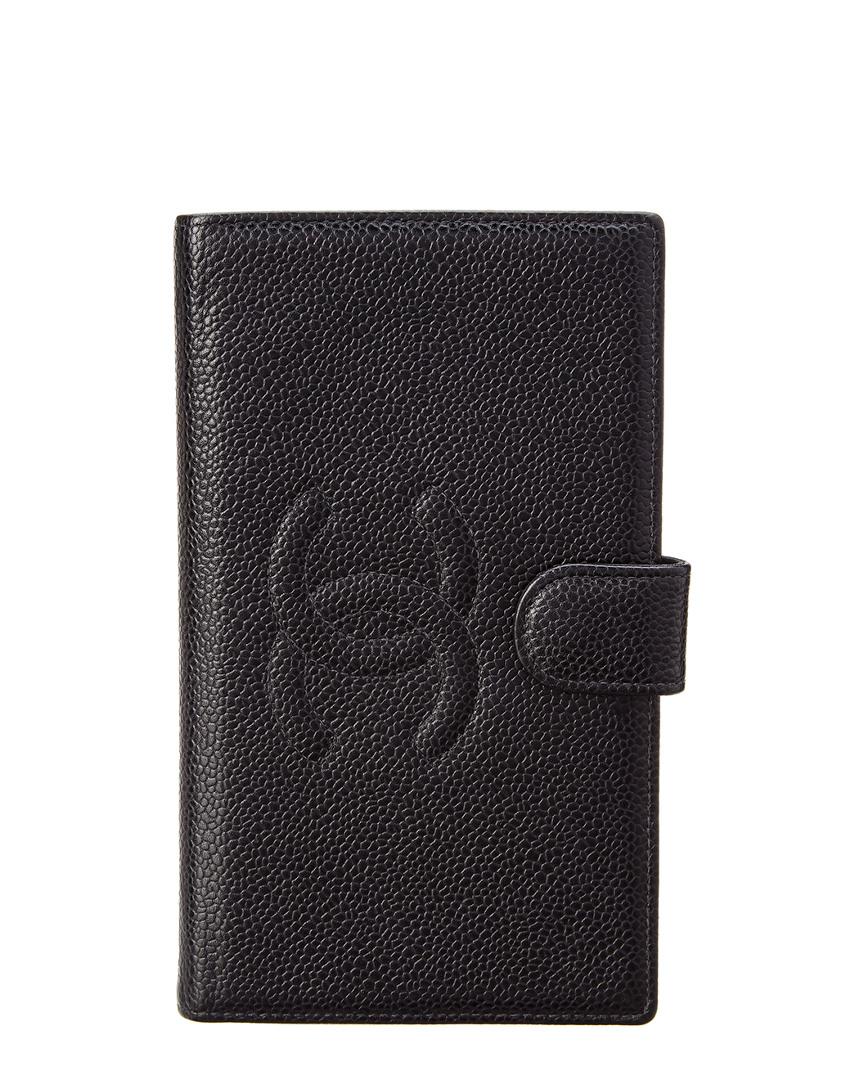 Chanel BLACK CAVIAR LEATHER LONG WALLET