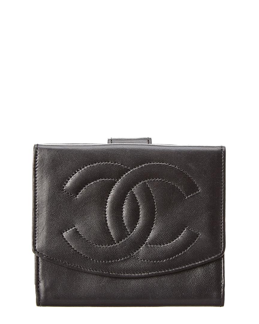 Chanel BLACK LAMBSKIN LEATHER WALLET