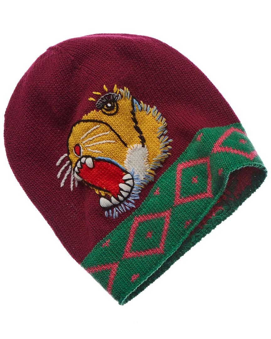 Gucci Mens Roaring Tiger Wool Beanie 40f465facb3