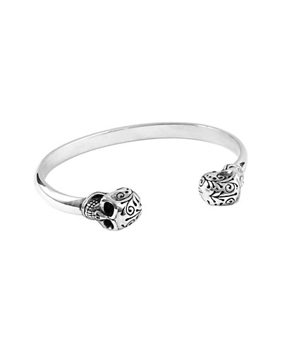 King Baby Studio Silver Skull Triangular Wire Cuff