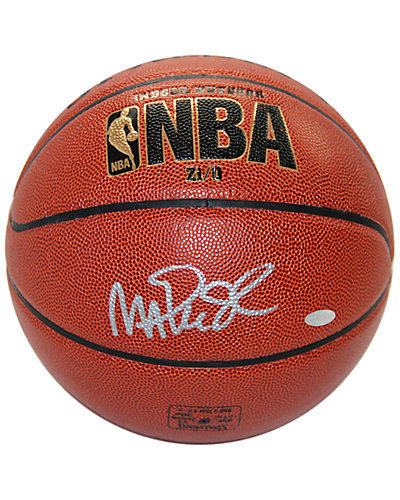 Magic Johnson Signed Brown NBA Basketball
