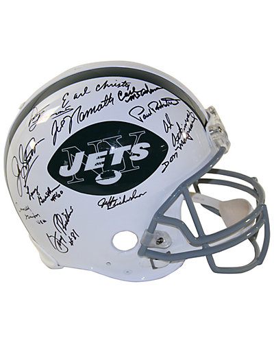1969 New York Jets Team Signed Authentic 65-77 Throwback Helmet
