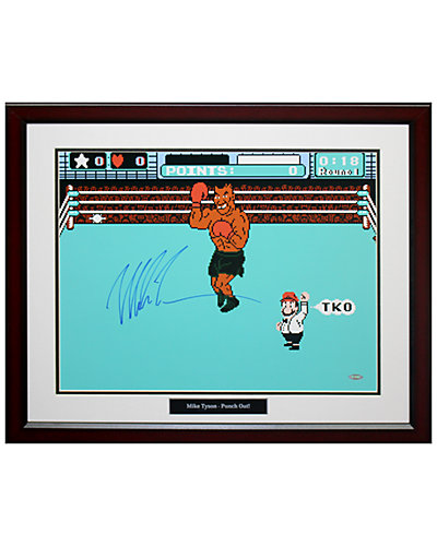 Steiner Sports Mike Tyson Signed Punch Out Photo