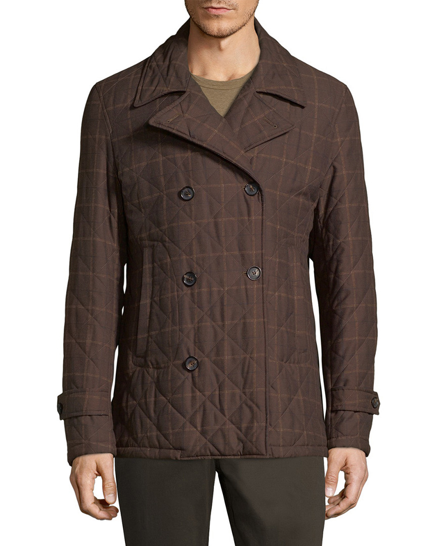ISAIA QUILTED DOUBLE BREASTED JACKET