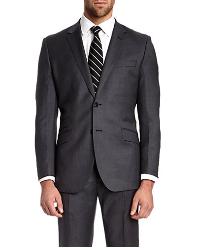 English Laundry Grey Slim Fit Suit with Flat Front Trouser