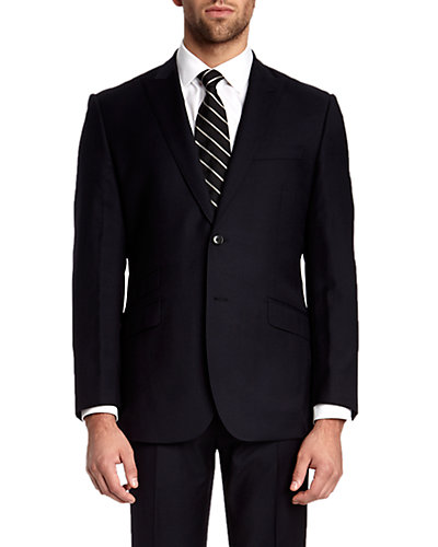 English Laundry Navy Slim Fit Suit with Flat Front Trouser