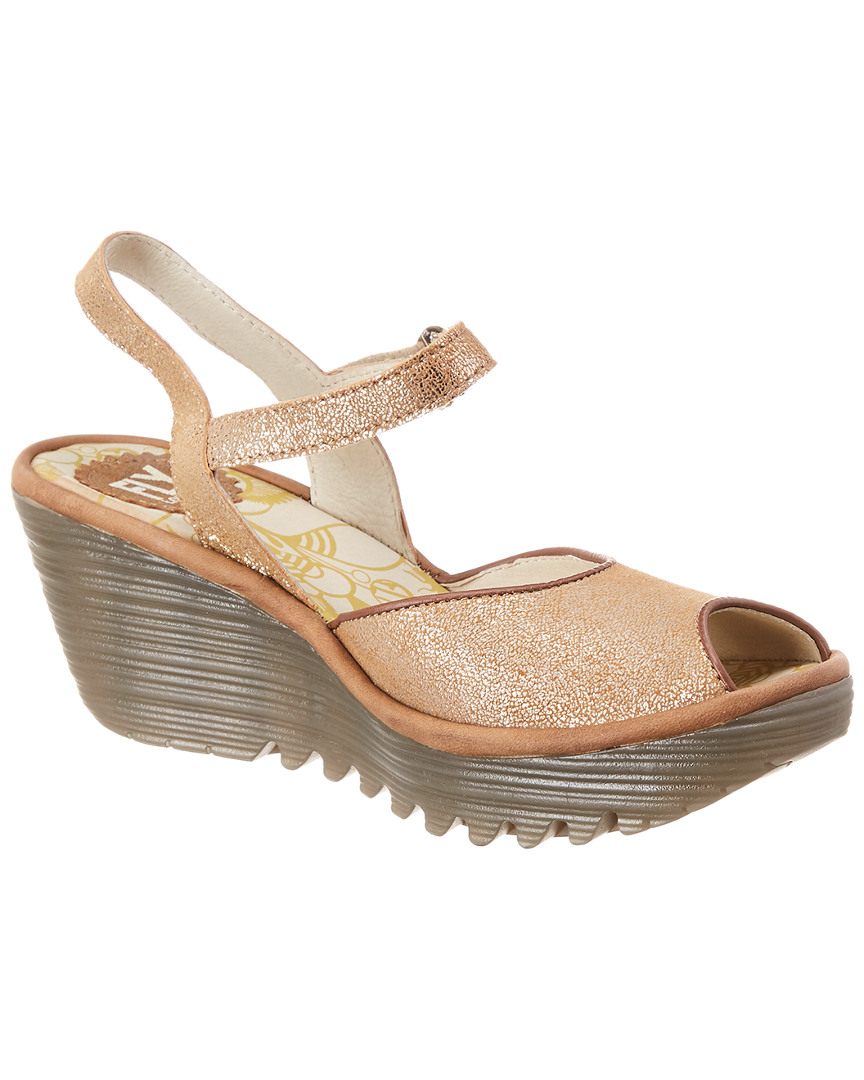 5072ced512d Fly London Yora Leather Wedge Sandal