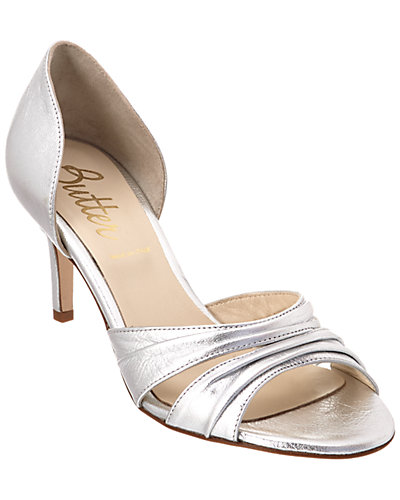 Butter Crystal Leather Pump