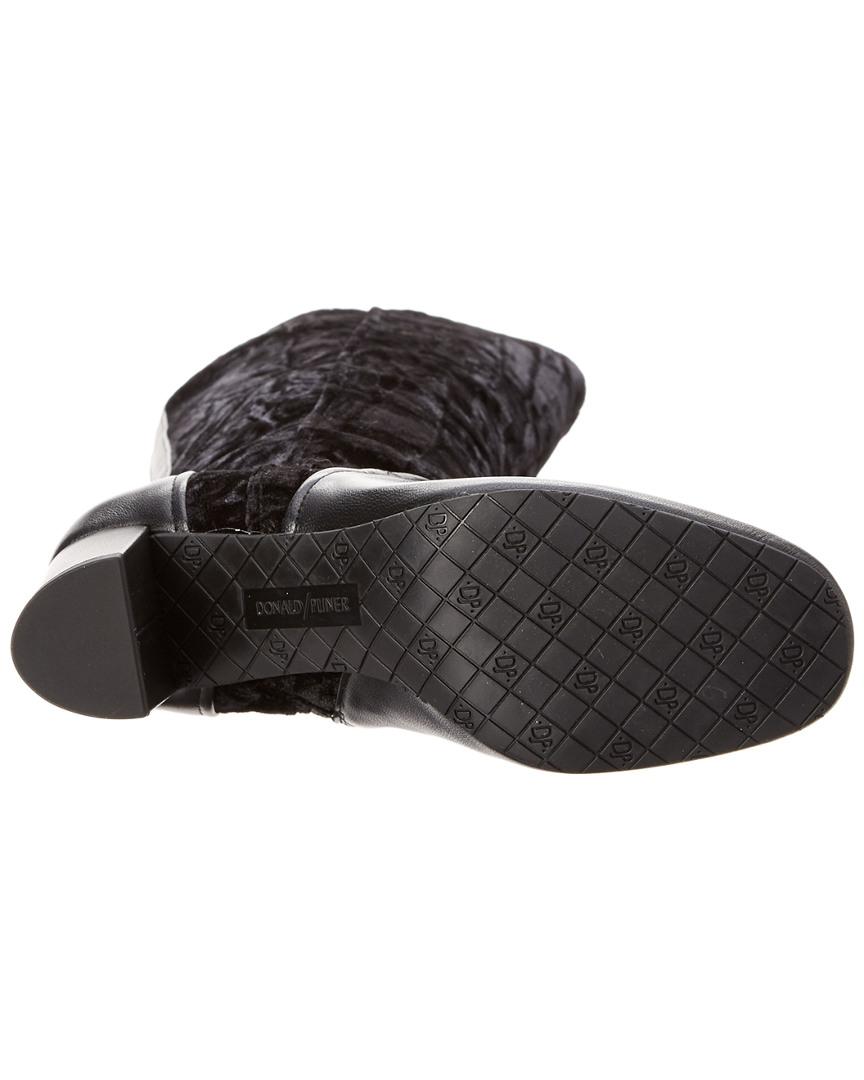 Donald Pliner Priscila Negro bota, 6, Negro Priscila d3a678