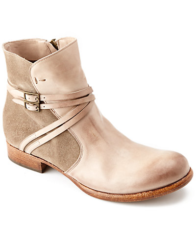 "Alberto Fermani ""Lizza"" Suede & Leather Ankle Boot"