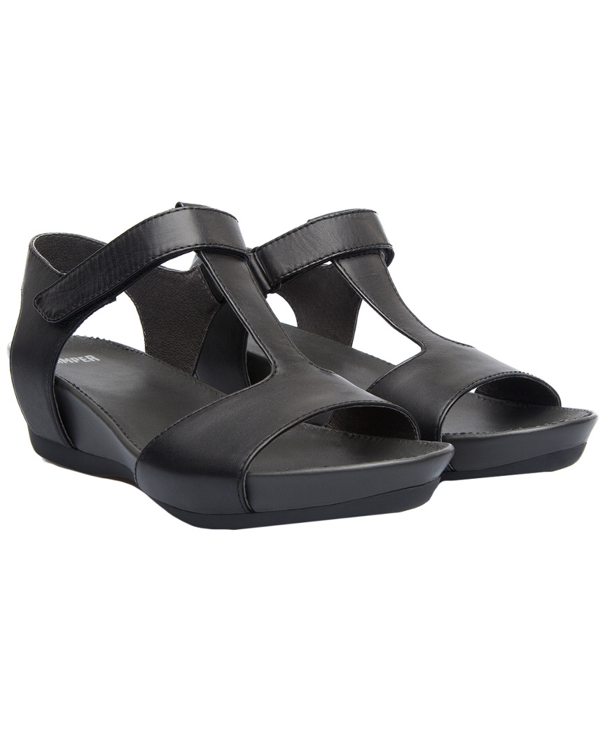 MICRO LEATHER WEDGE SANDAL