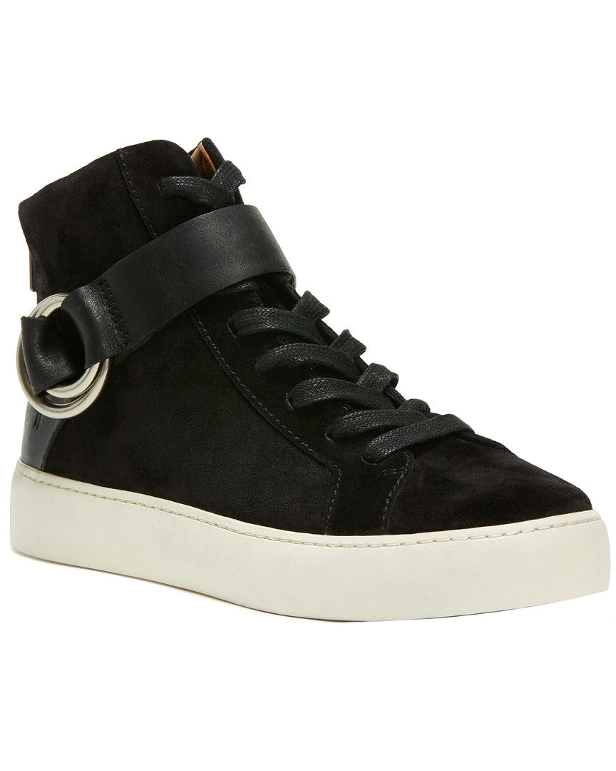 LENA HARNESS HIGH SUEDE SNEAKER