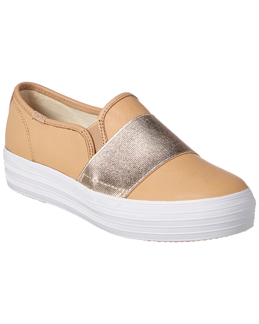 TRIPLE BANDEAU LEATHER SNEAKER