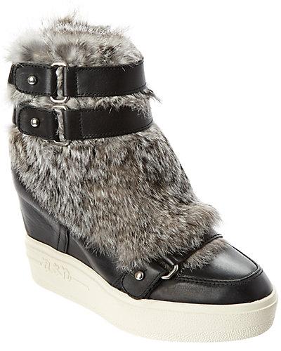 Ash Animal Leather Wedge Sneaker
