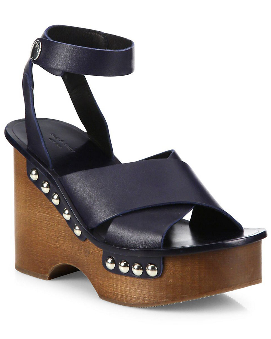 1e4d3c4be23 Rag   Bone Hester Leather Ankle-Strap Wedge Clog Sandal