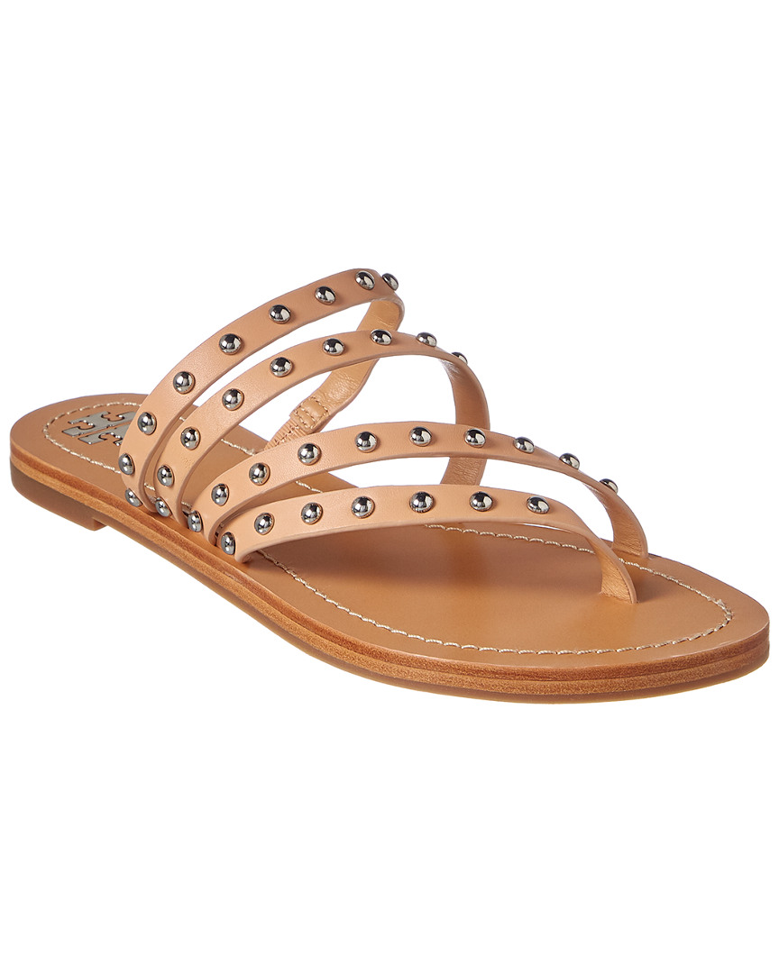 d14d833b99e Tory Burch Patos Studded Leather Sandal. Color material  natural vachetta  leather ...